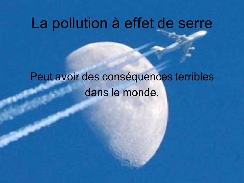 La pollution à effet de serre