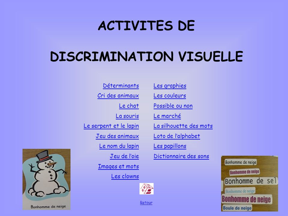 DISCRIMINATION VISUELLE