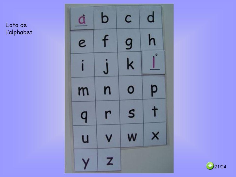 Loto de l'alphabet 21/24