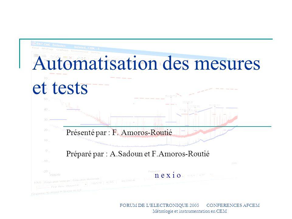Automatisation des mesures et tests