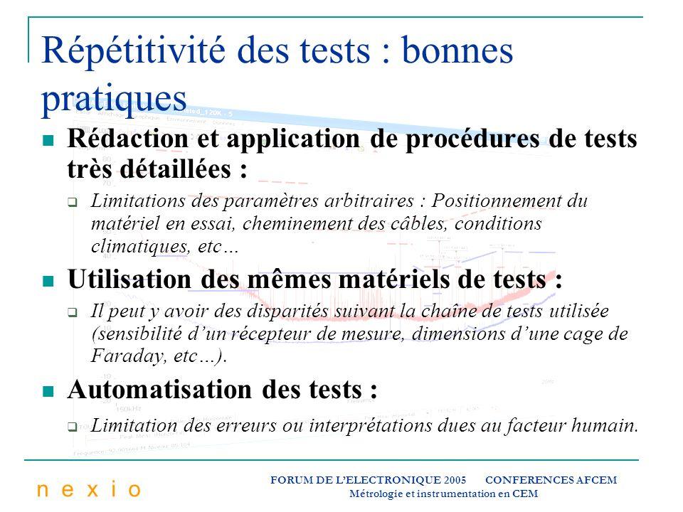 Répétitivité des tests : bonnes pratiques