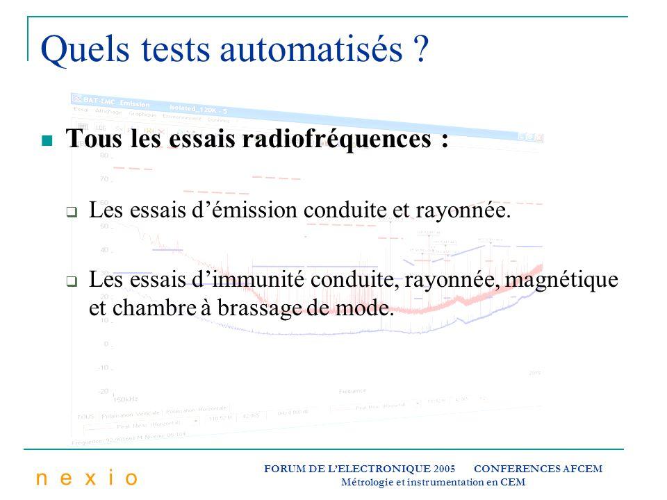 Quels tests automatisés