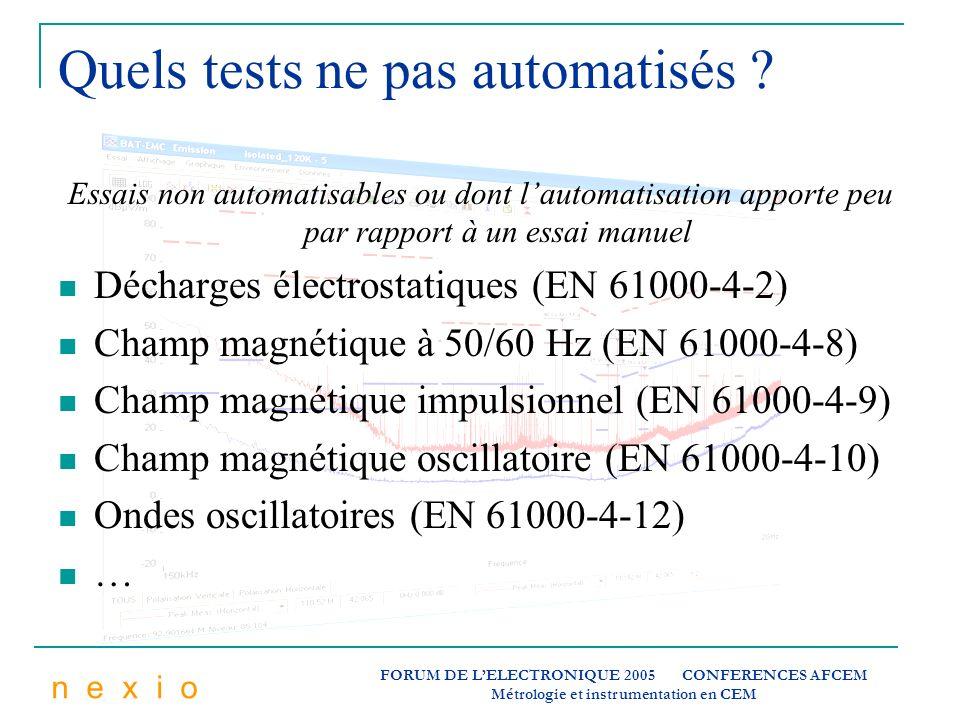 Quels tests ne pas automatisés