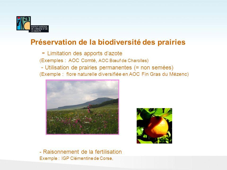 Préservation de la biodiversité des prairies