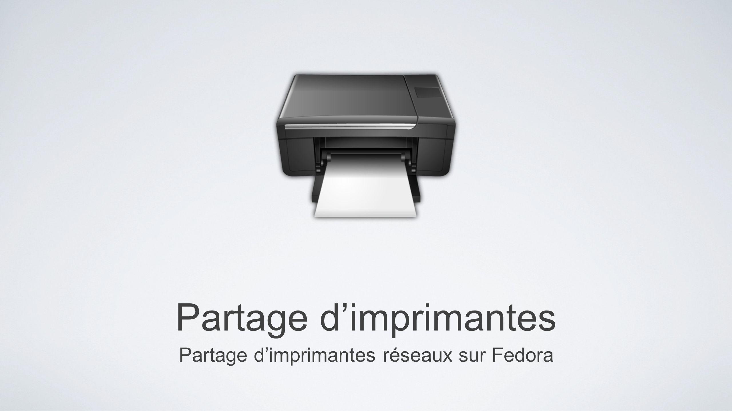 Partage d'imprimantes