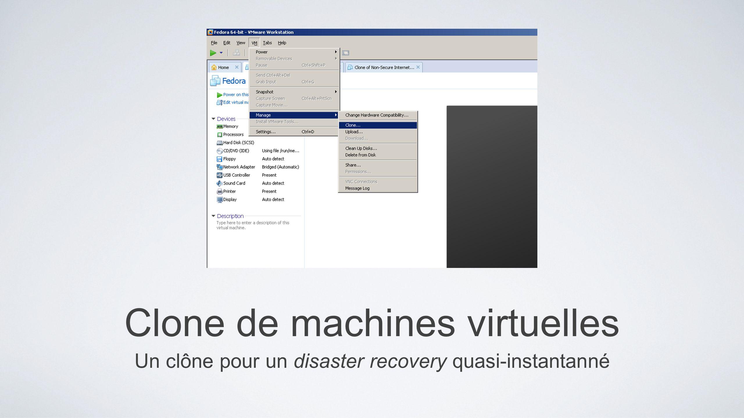 Clone de machines virtuelles