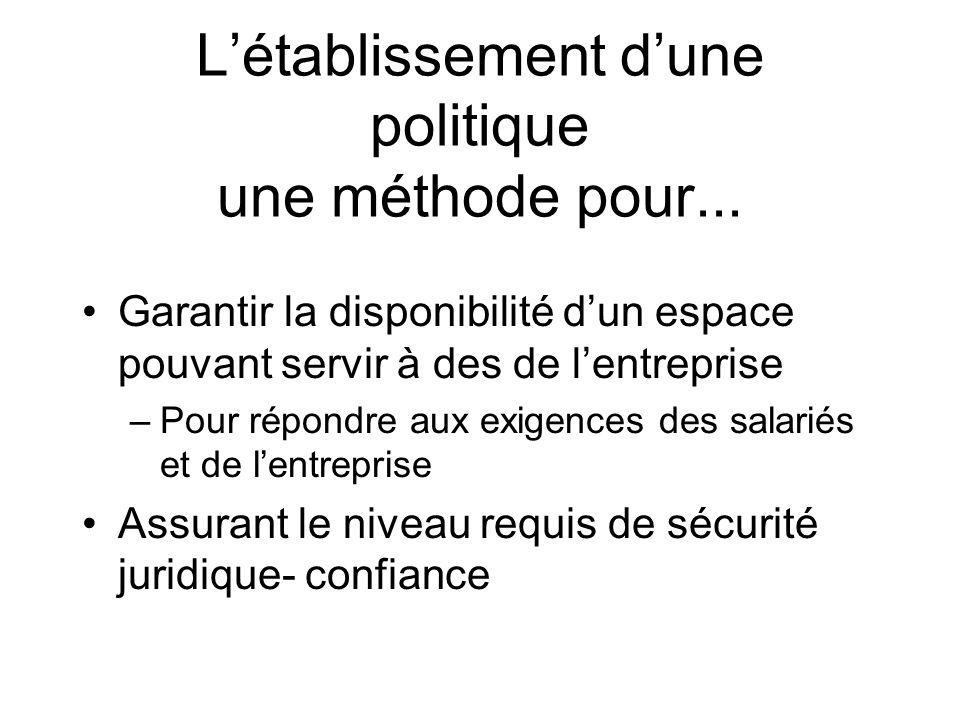 L'établissement d'une politique une méthode pour...