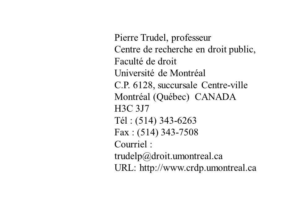 Pierre Trudel, professeur