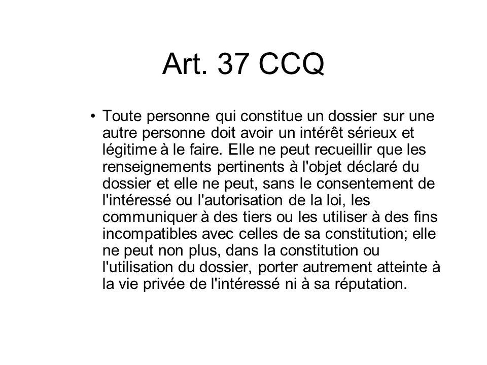 Art. 37 CCQ