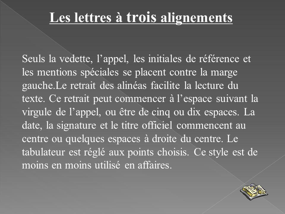 Les lettres à trois alignements