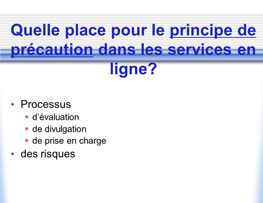 Quelle place pour le principe de précaution dans les services en ligne