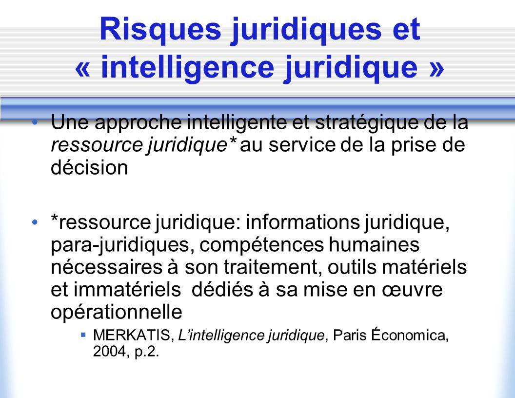 Risques juridiques et « intelligence juridique »