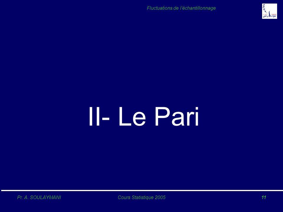 II- Le Pari