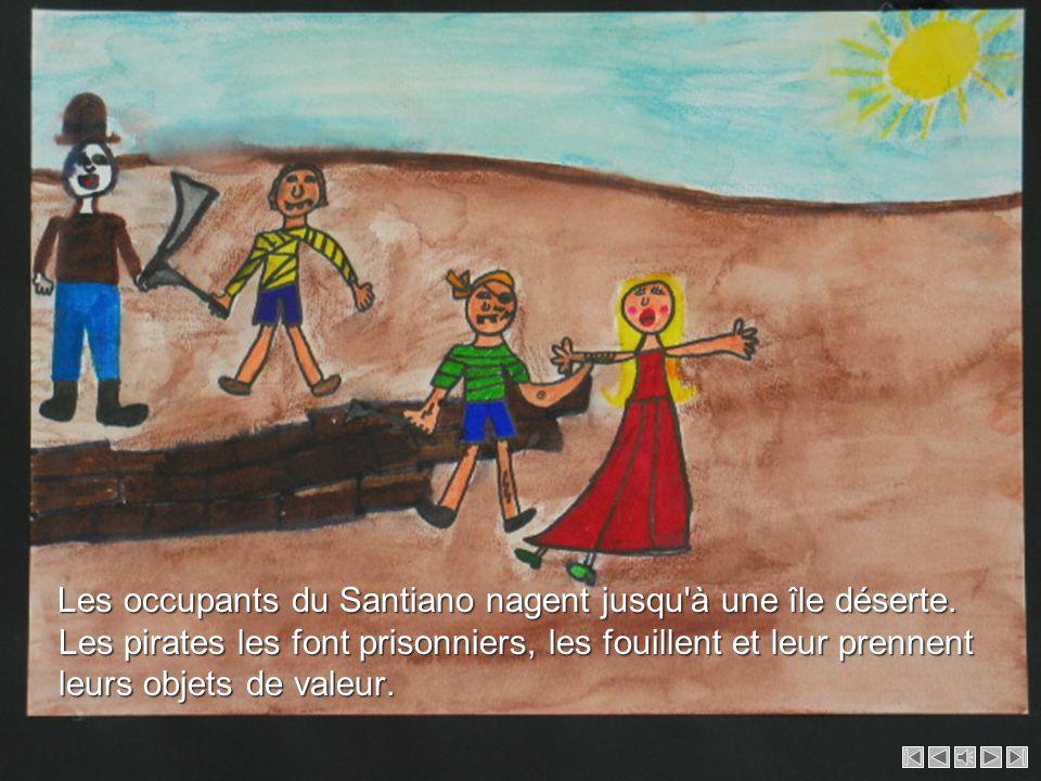 Les occupants du Santiano nagent jusqu à une île déserte