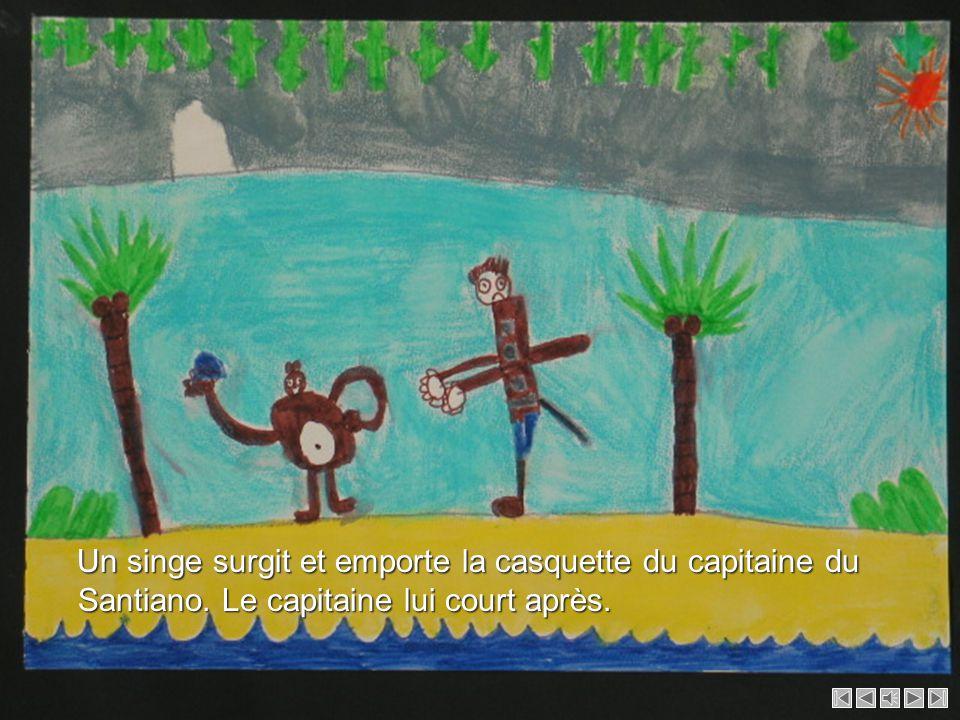 Un singe surgit et emporte la casquette du capitaine du Santiano