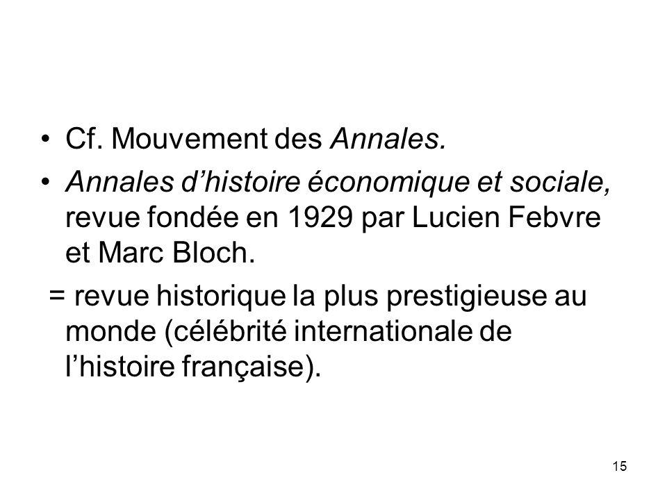 Cf. Mouvement des Annales.