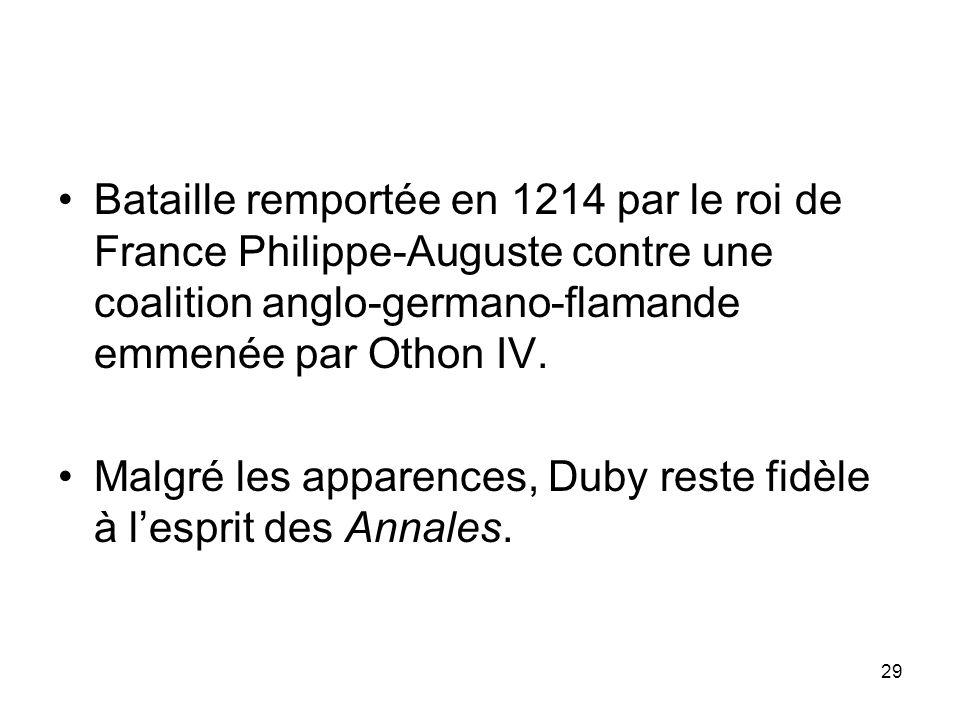 Bataille remportée en 1214 par le roi de France Philippe-Auguste contre une coalition anglo-germano-flamande emmenée par Othon IV.