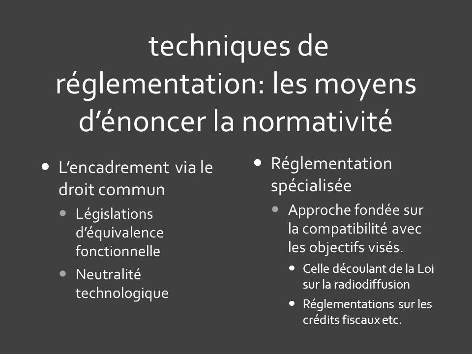 techniques de réglementation: les moyens d'énoncer la normativité