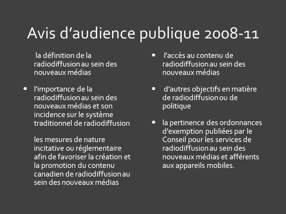 Avis d'audience publique 2008-11