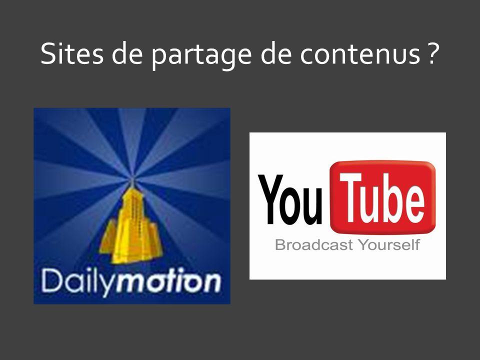 Sites de partage de contenus