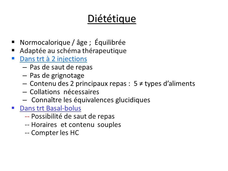 Diététique Normocalorique / âge ; Équilibrée