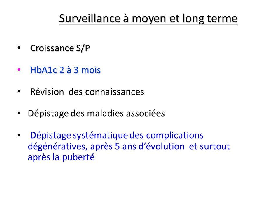 Surveillance à moyen et long terme