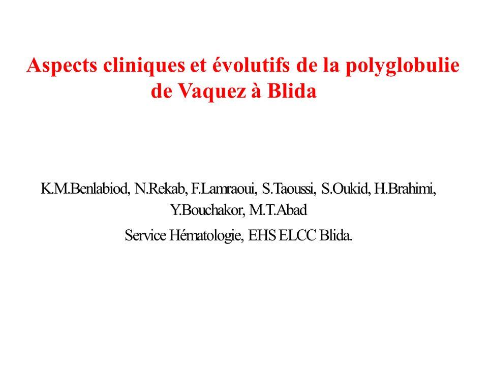 Service Hématologie, EHS ELCC Blida.