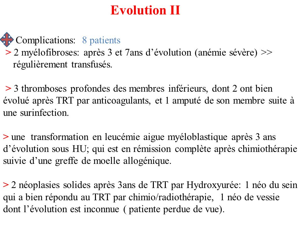 Evolution II Complications: 8 patients