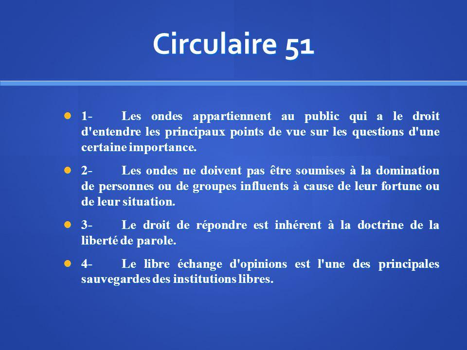 Circulaire 51