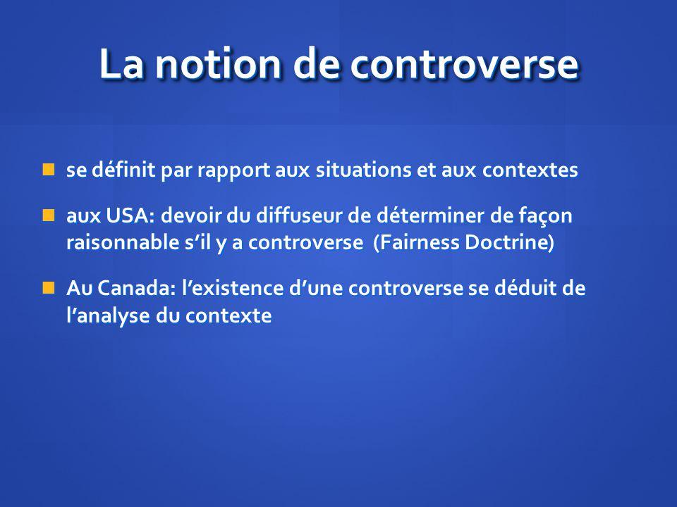 La notion de controverse