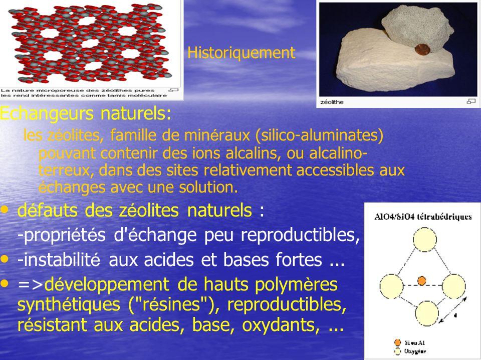 défauts des zéolites naturels :
