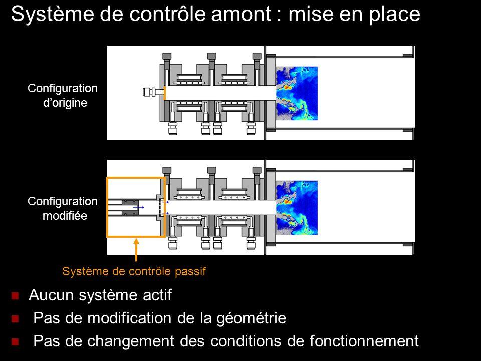 Système de contrôle amont : mise en place