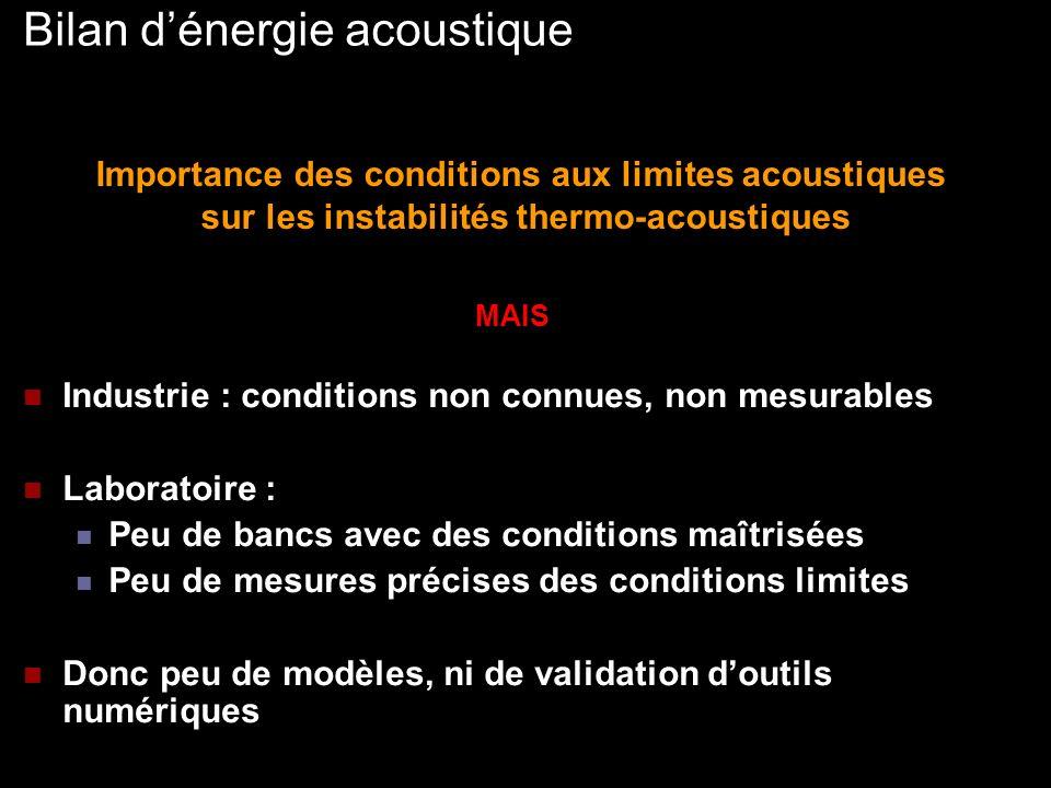 Bilan d'énergie acoustique