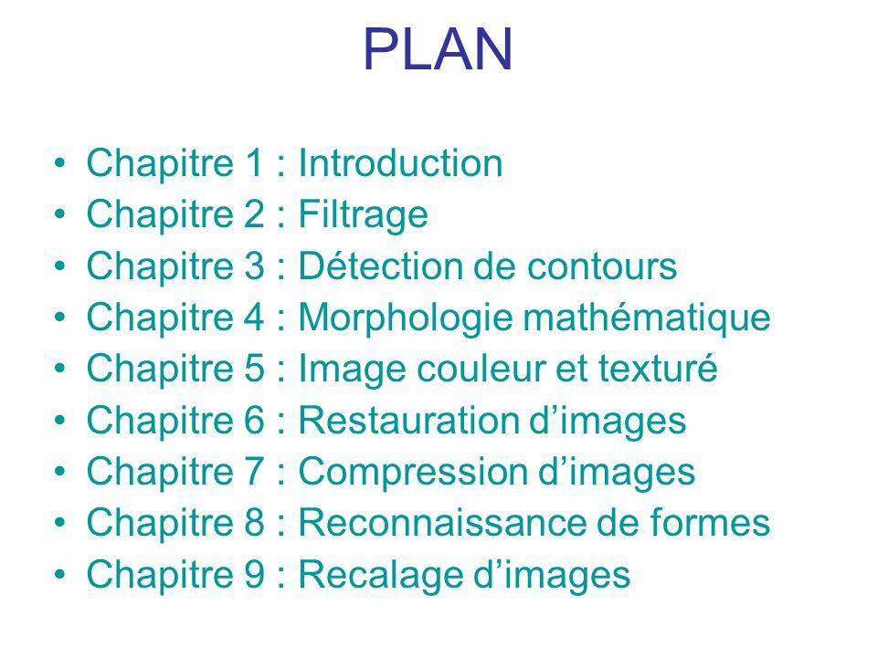 PLAN Chapitre 1 : Introduction Chapitre 2 : Filtrage