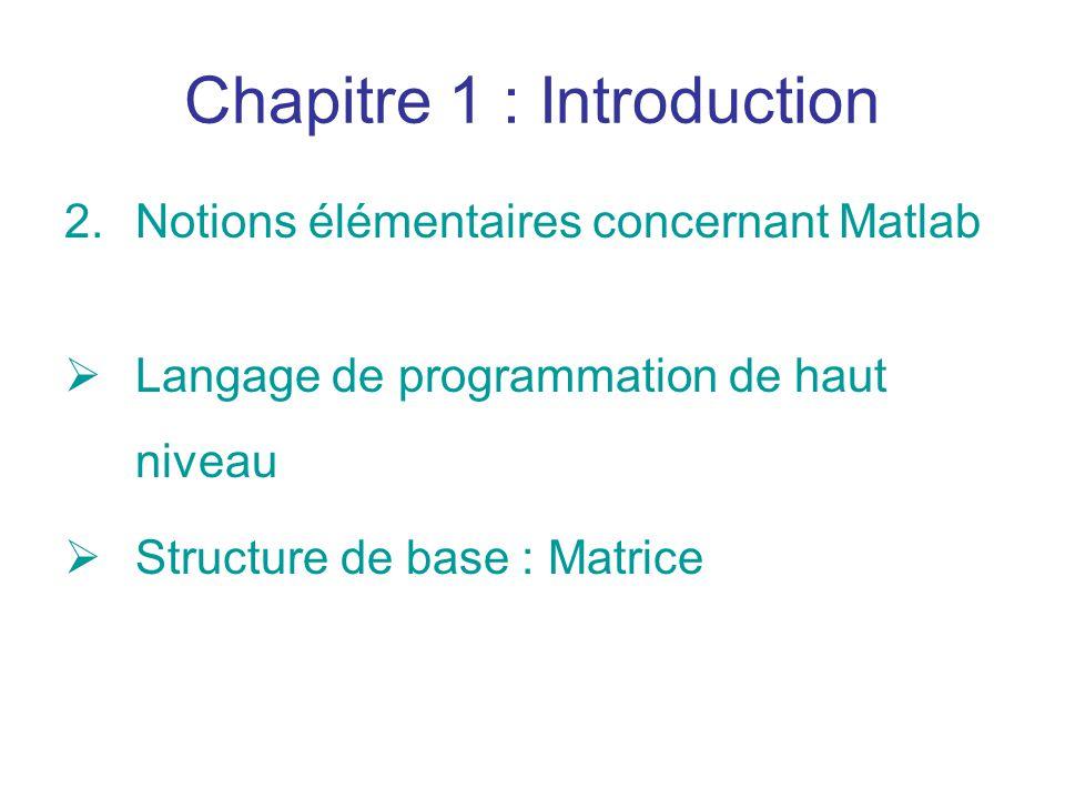 Chapitre 1 : Introduction