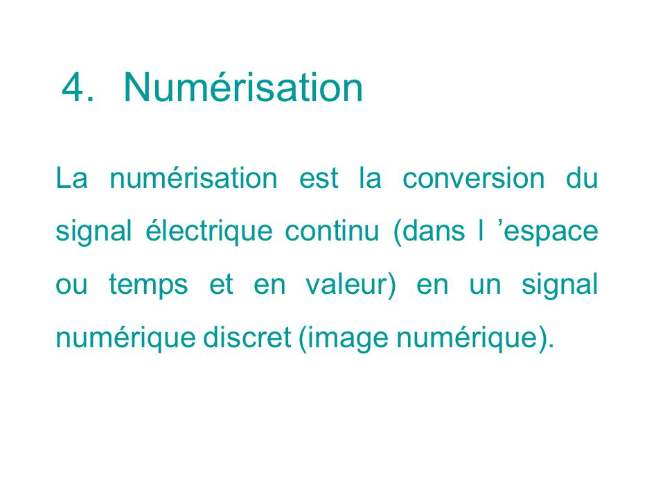 Numérisation