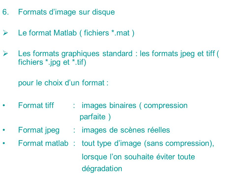 Formats d'image sur disque