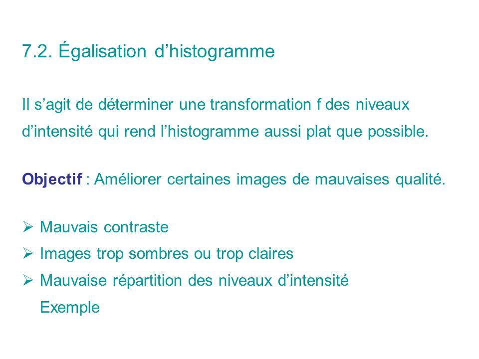 7.2. Égalisation d'histogramme