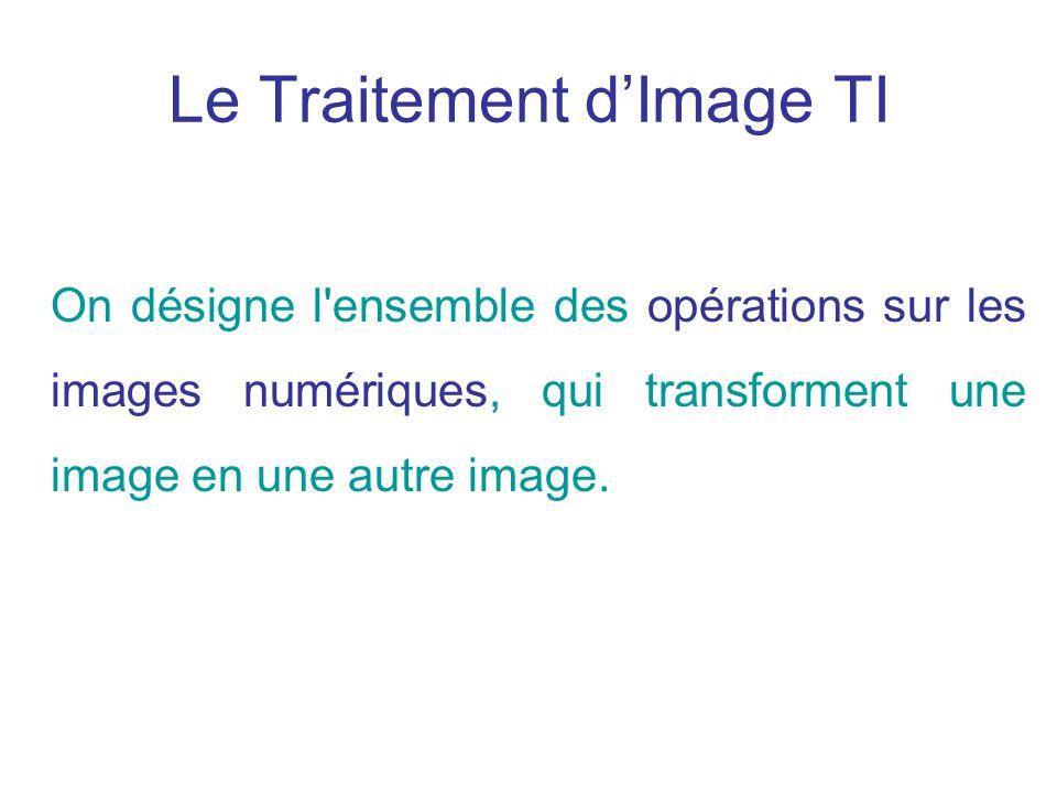 Le Traitement d'Image TI