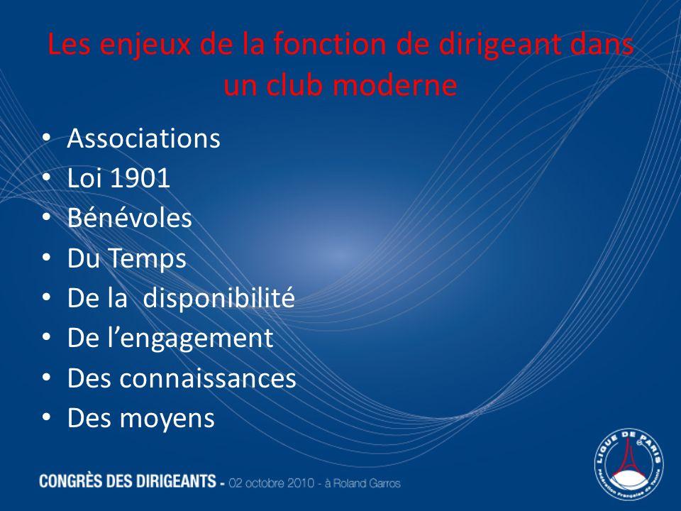 Les enjeux de la fonction de dirigeant dans un club moderne