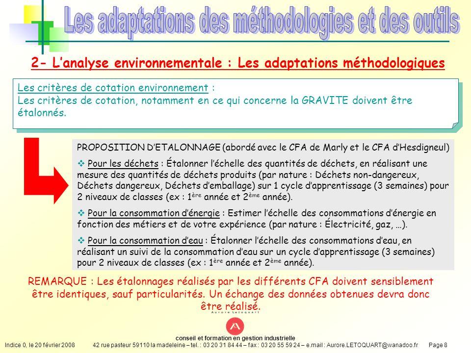 Les adaptations des méthodologies et des outils