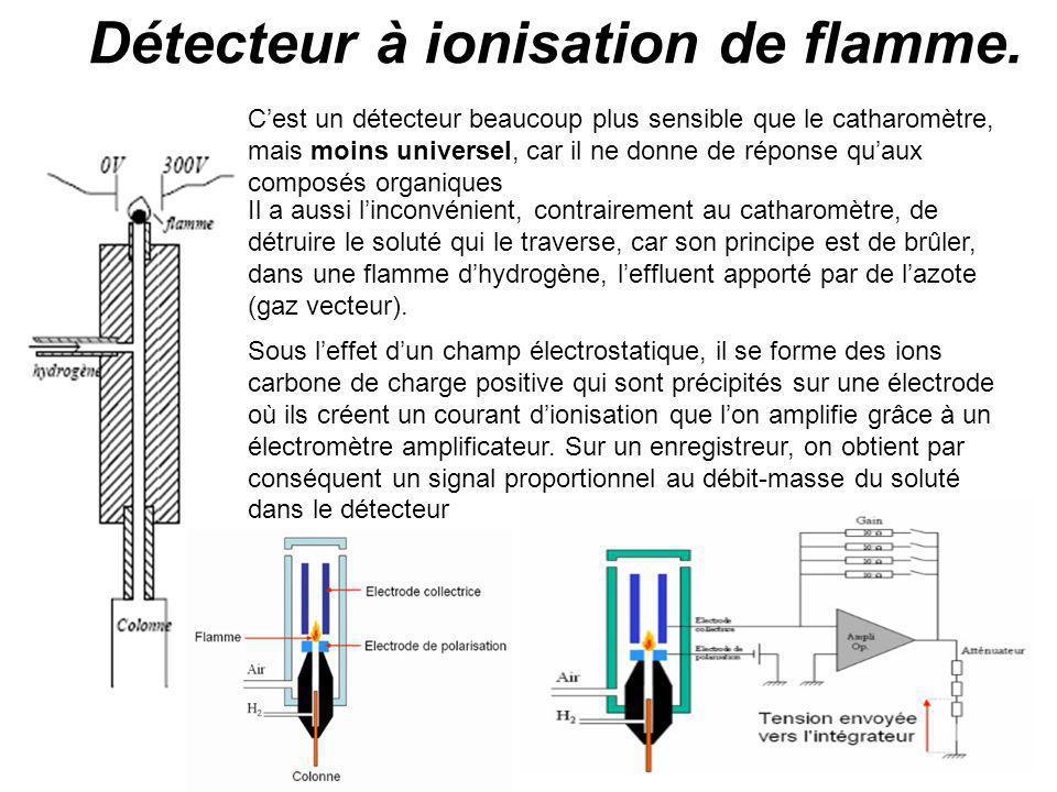 Détecteur à ionisation de flamme.