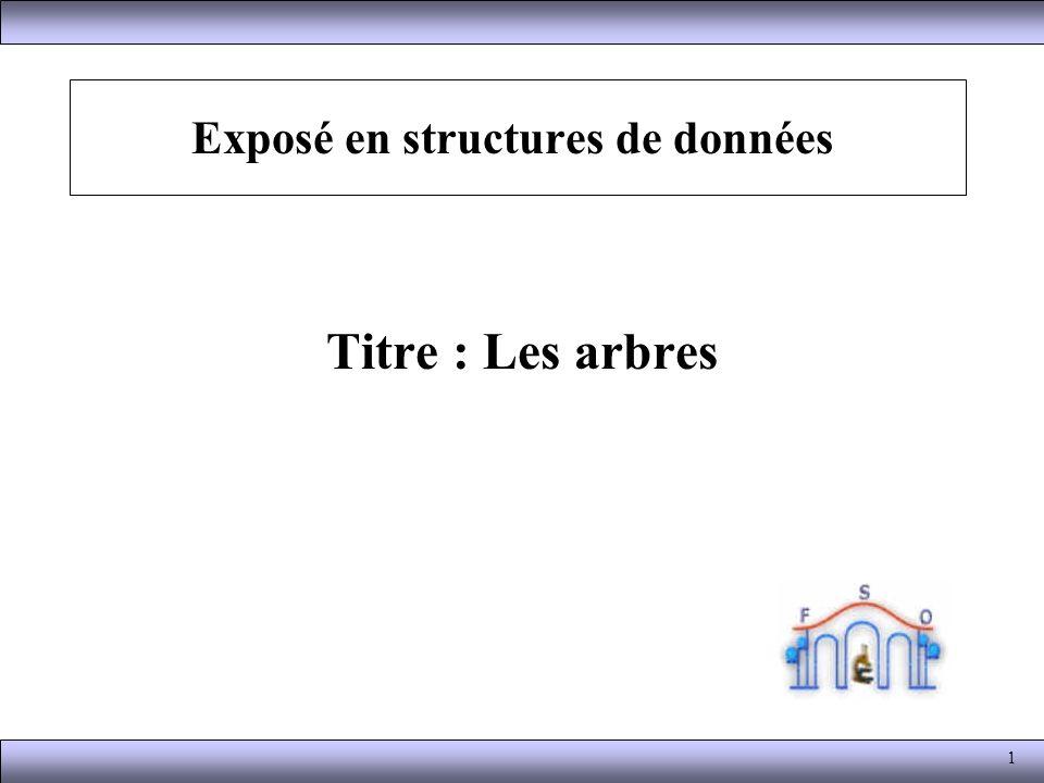 Exposé en structures de données