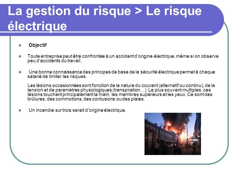 La gestion du risque > Le risque électrique