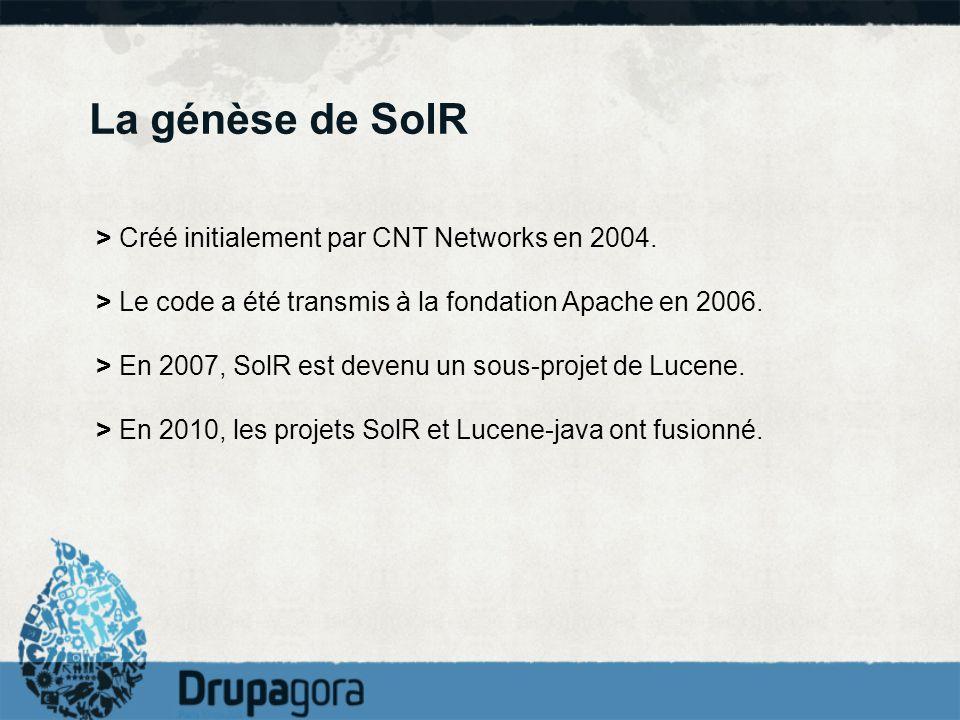La génèse de SolR > Créé initialement par CNT Networks en 2004.
