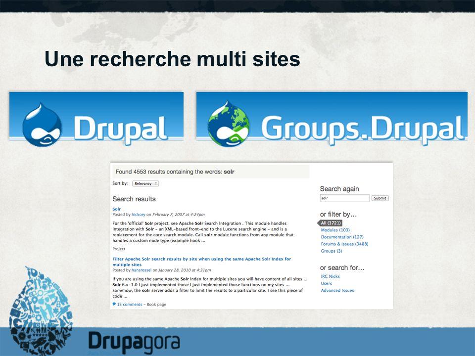 Une recherche multi sites