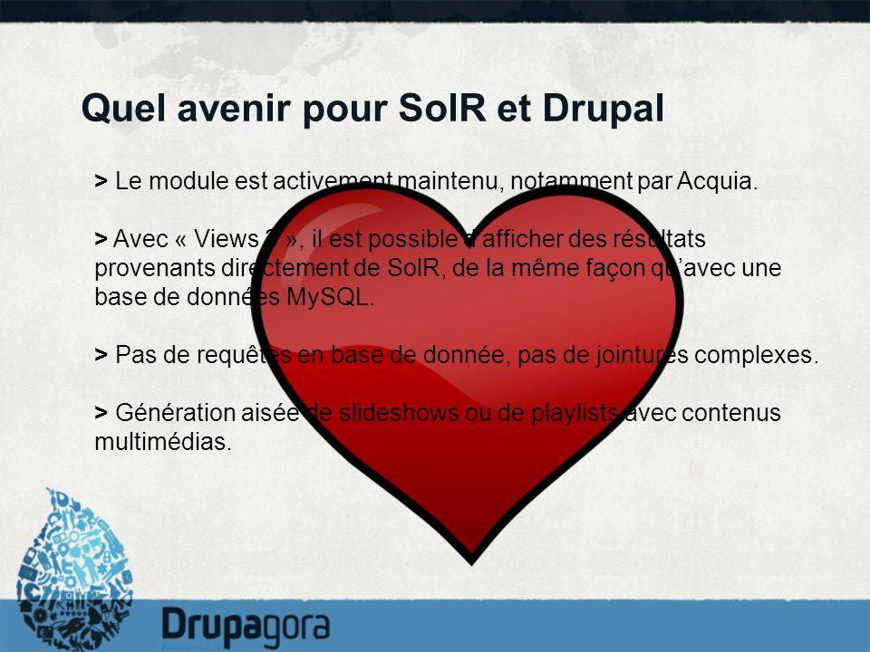 Quel avenir pour SolR et Drupal