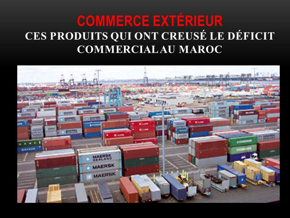 Commerce extérieur ces produits qui ont creusé le déficit commercial au Maroc