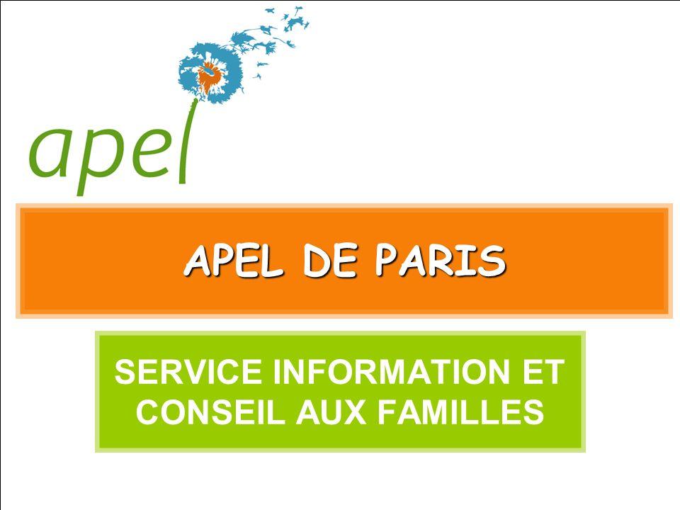 SERVICE INFORMATION ET CONSEIL AUX FAMILLES