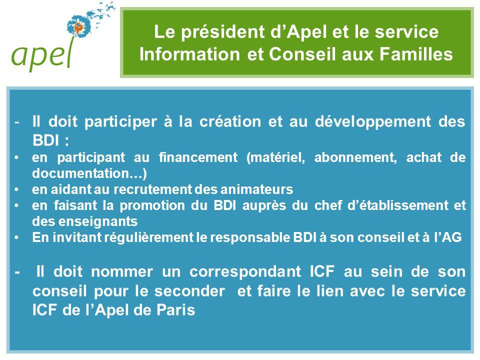 Le président d'Apel et le service Information et Conseil aux Familles
